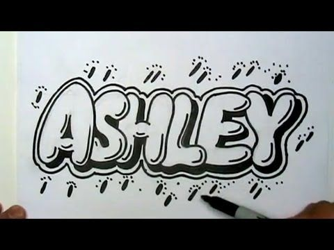 How to Draw Ashley in Graffiti Letters - Write Ashley in ...