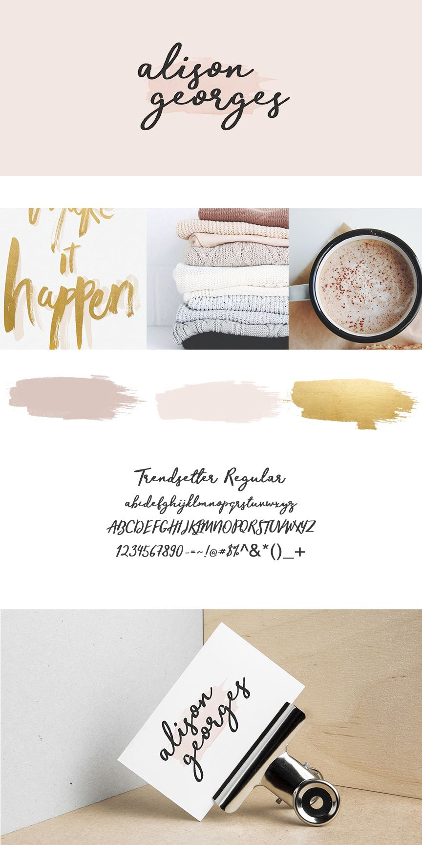Alison Georges | A feminine and soft brand with a palette of blush ...