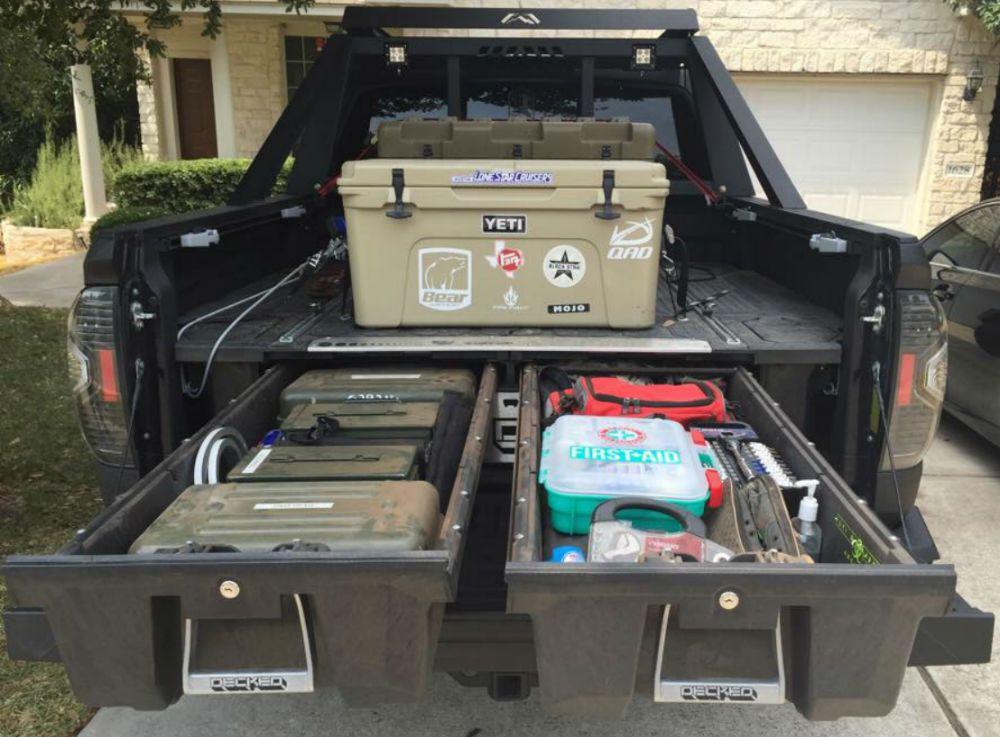 Decked Truck Bed Organizer Truck bed organization