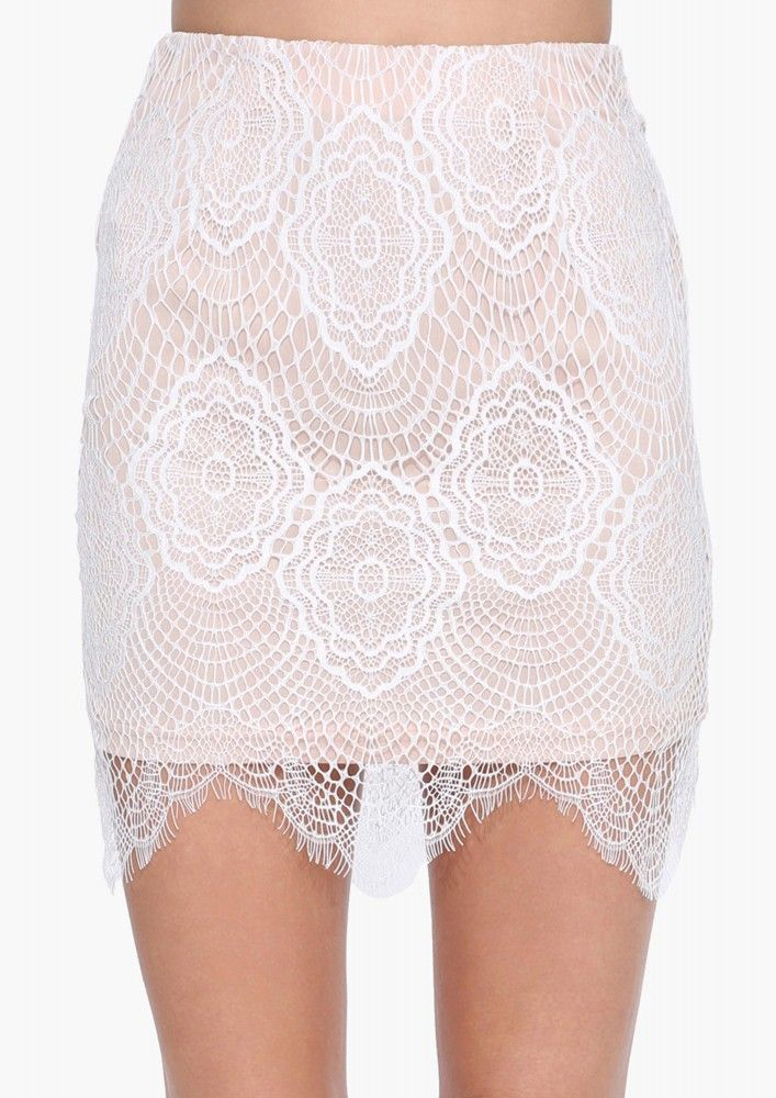Love + Limes Mini Skirt in White | Necessary Clothing