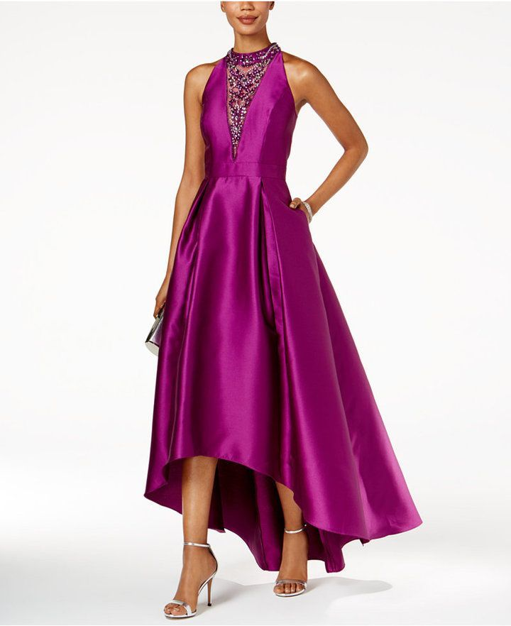 Adrianna Papell Embellished High-Low Gown | Fiestas y Vestiditos