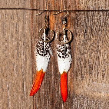 Lady Amherst Feather Earrings