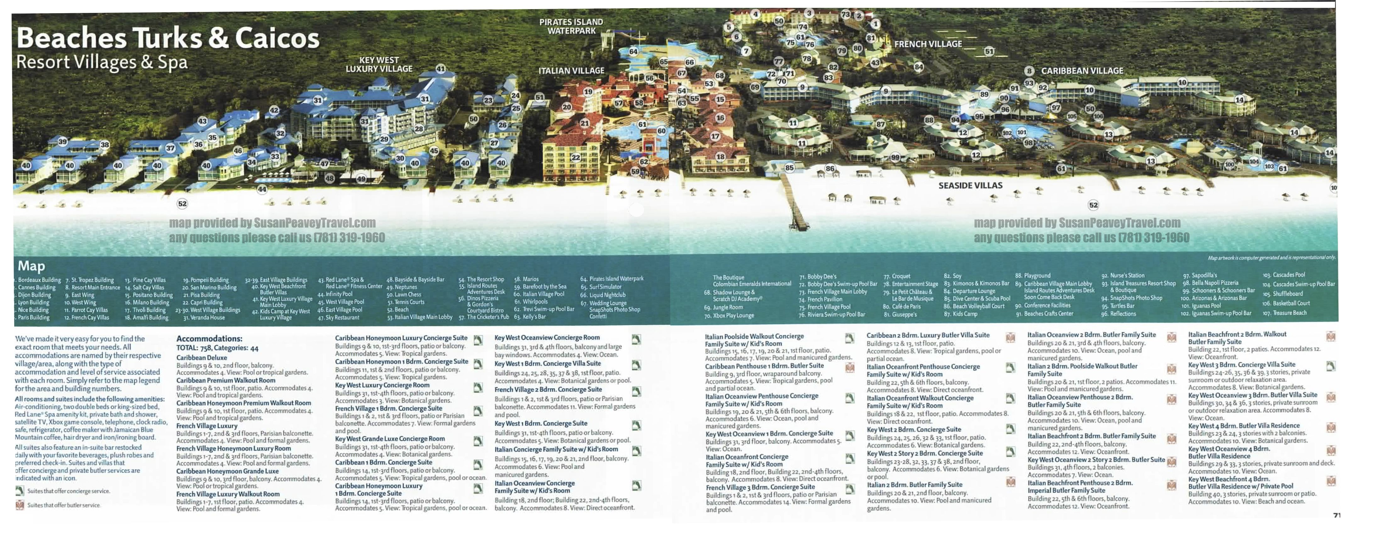 Resort Map For Beaches Turks Caicos Resort With Images