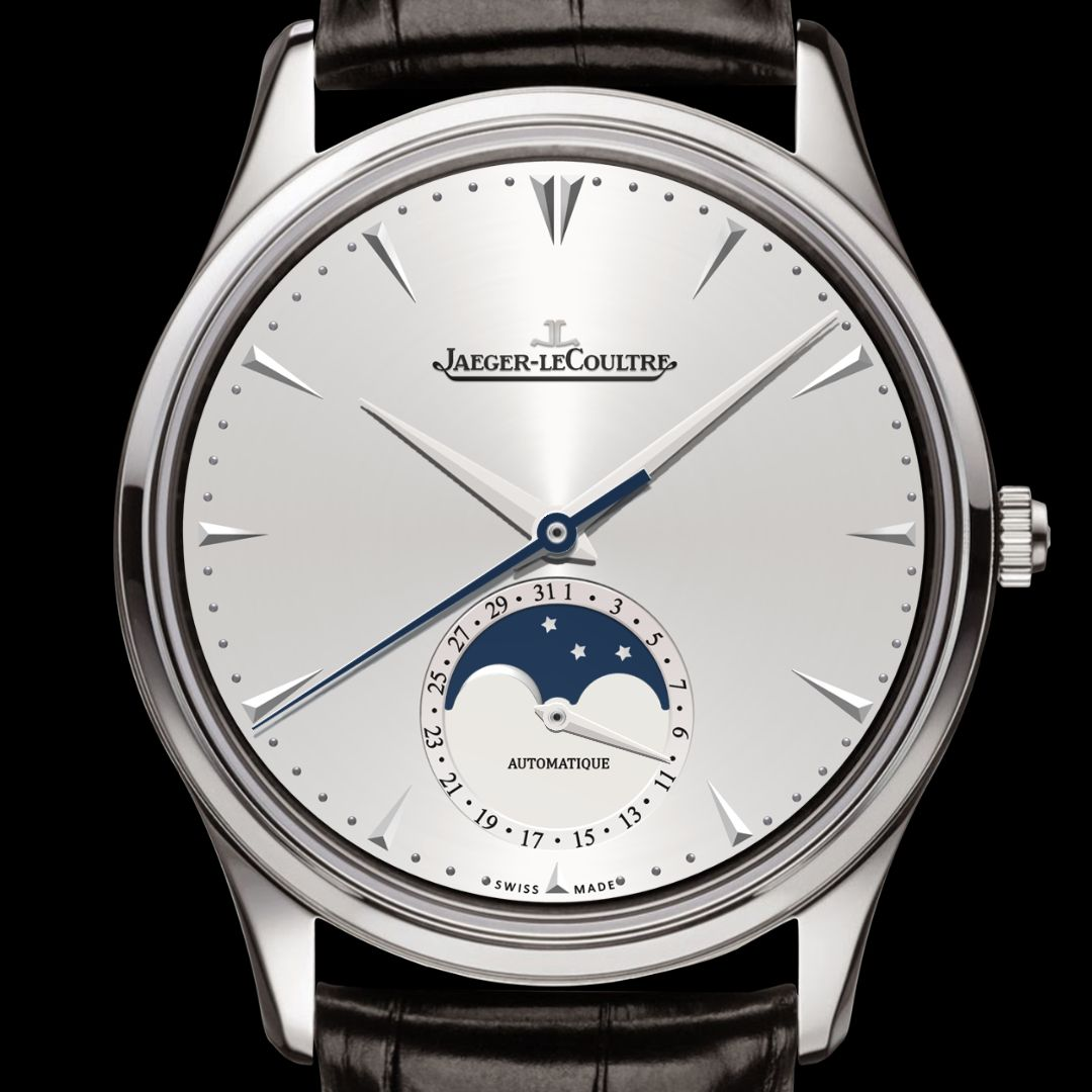 Moonphase with silver dial watch face preview