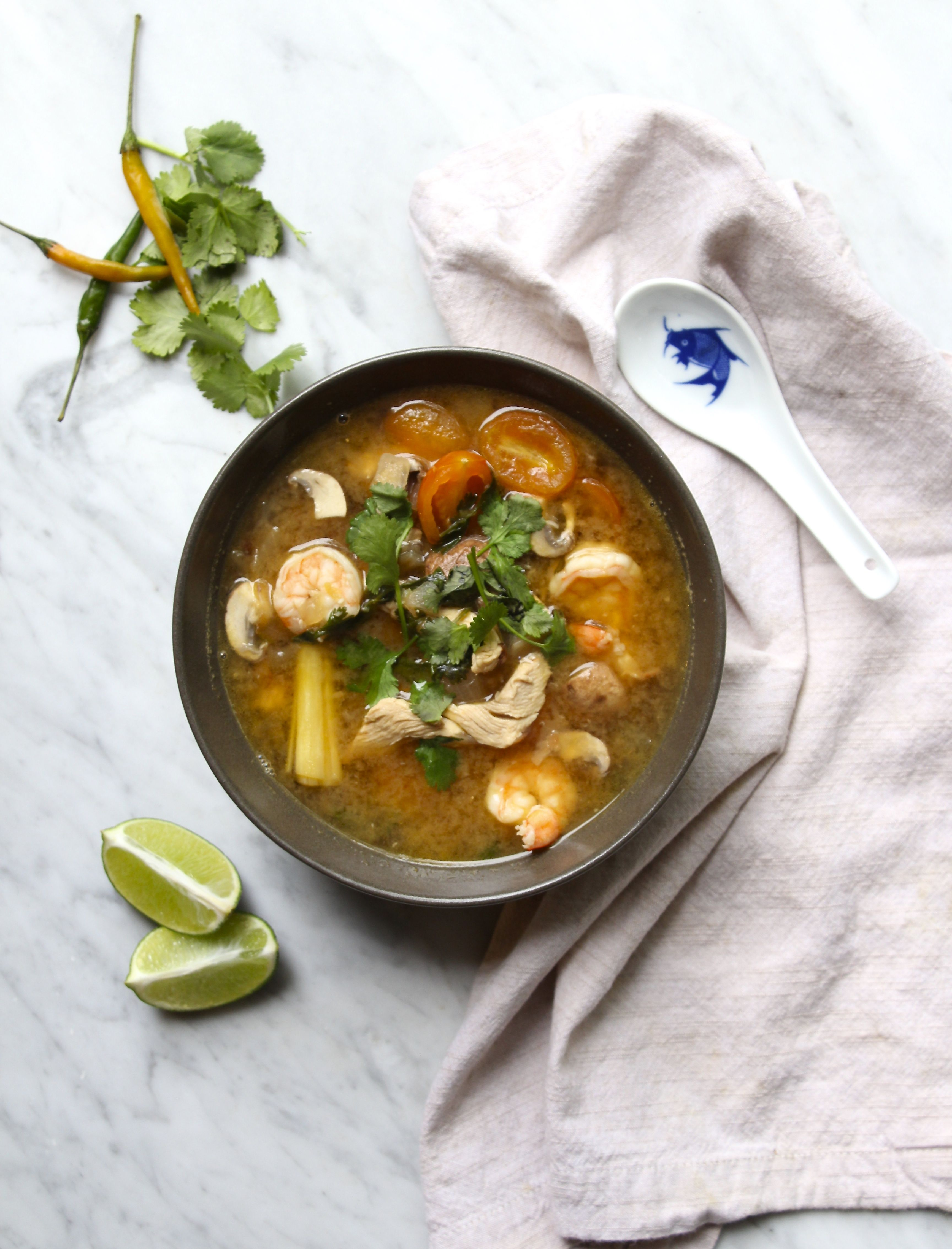 Tom Yum Soup Recipe In 2018 Whole30 Recipes Soup Tom Yum