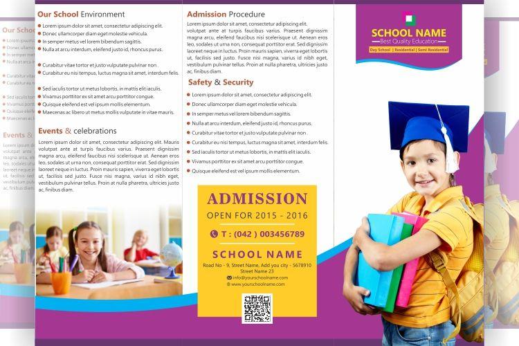 Free Tri Fold Brochure School Design  File Formats Psd Ai Cdr
