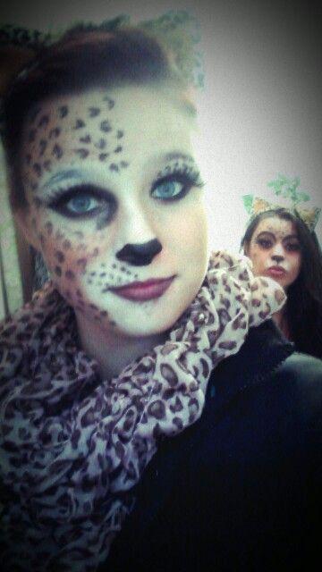 Cheetah halloween make up