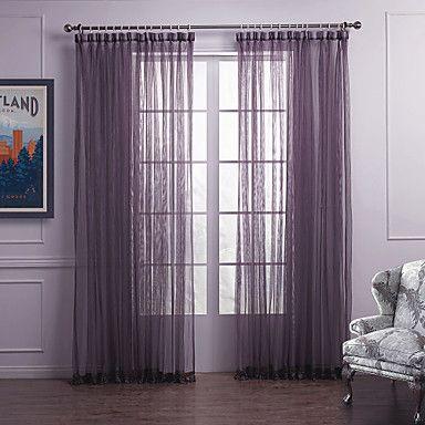 Cortinas Púrpuras De Dormitorio Semi Transparentes Cortinas Púrpura Cortinas De Techo Cortinas
