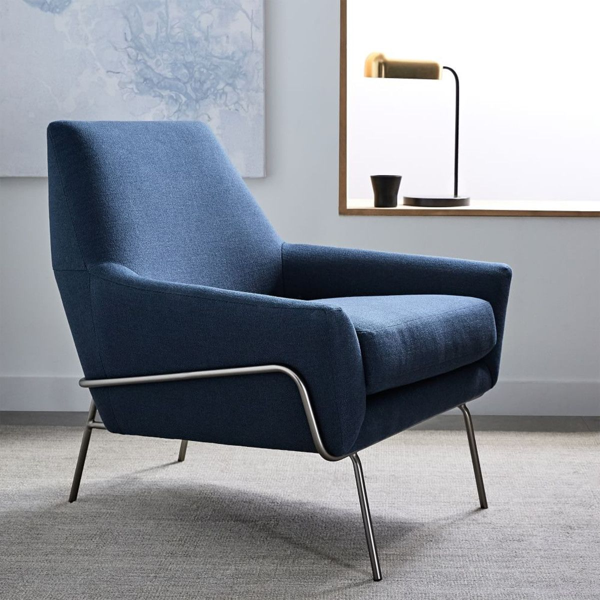 Lucas Wire Base Chair - Regal Blue | For the Home | Pinterest ...