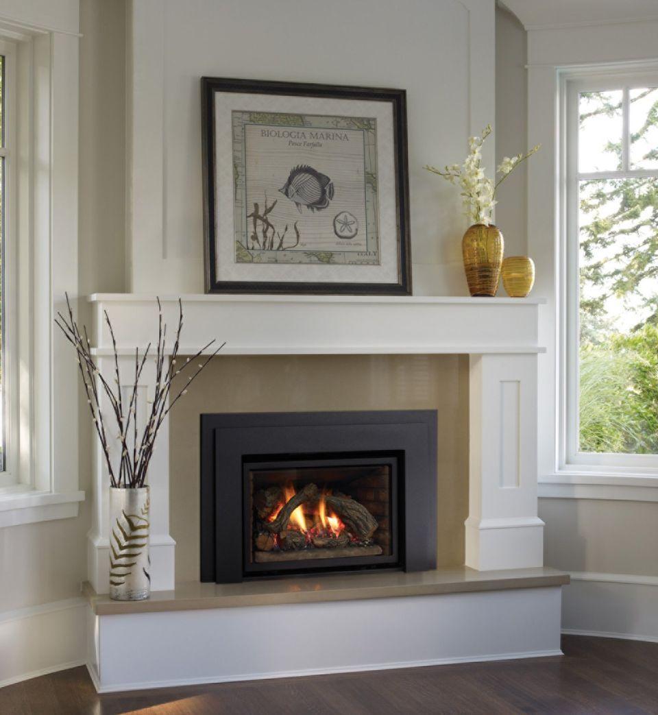 44++ Gas fireplace corner mantel ideas