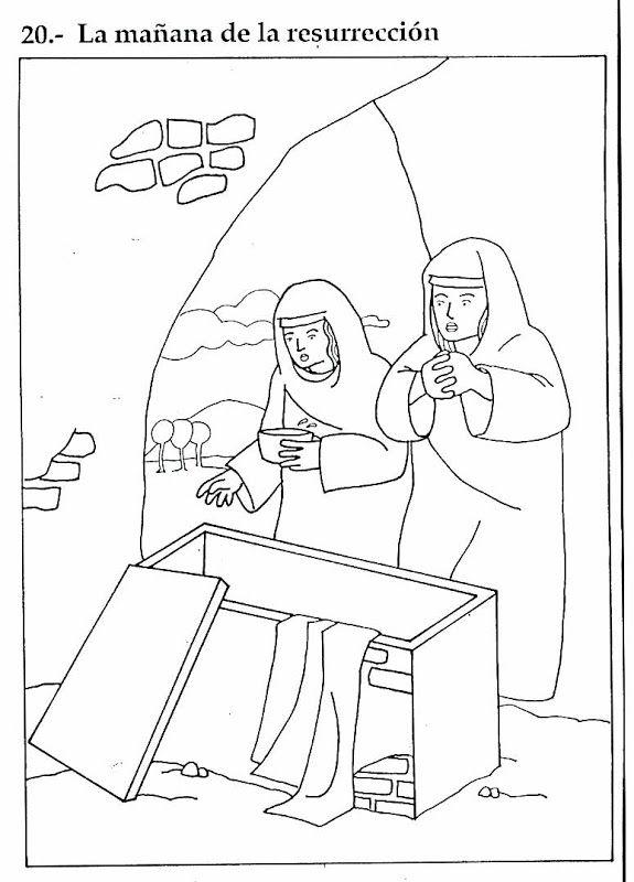 Pinto Dibujos Domingo De Resurrección Dibujo Para Colorear