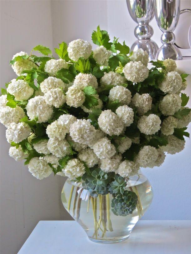 Elegant Hydrangea and Blueberry Centerpiece, Farmhouse ... |Country Hydrangeas Vase