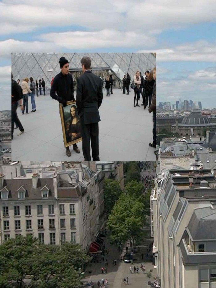 FENÊTRE AUGMENTÉE 01 - PARIS / Exposition collective, installation in situ, 2011 / Centre Pompidou, Paris