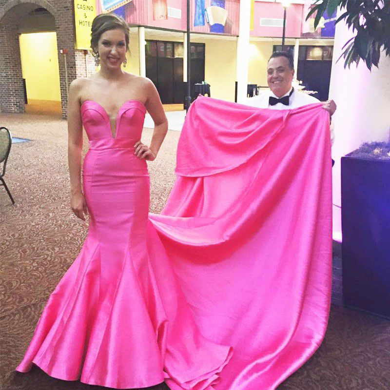 Prom Gown,Pink Prom Dresses,Evening Gowns,Mermaid Formal Dresses ...