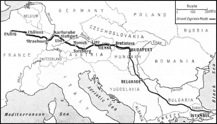 Map Of Route Orient Express Expressions Orient