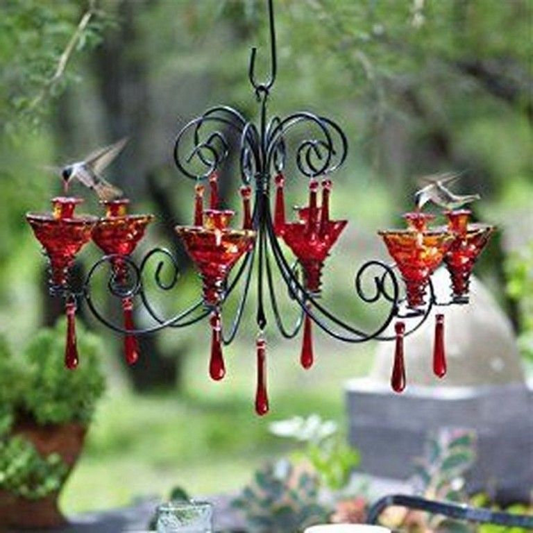 39 Awesome Diy Chandelier Hummingbird Feeder Ideas Page 14 Of 40 Humming Bird Feeders Glass Hummingbird Feeders Garden Gifts