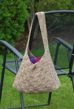 Harvey Basketweave Crochet Tote - Knitting Patterns and Crochet Patterns from KnitPicks.com