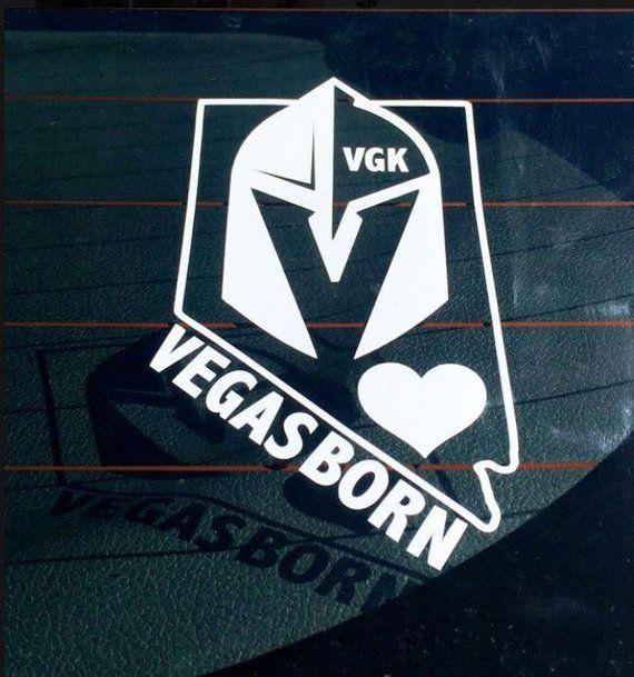 Vegas Golden Knights Vegas Born Bumper Sticker Laptop Vinyl Decal