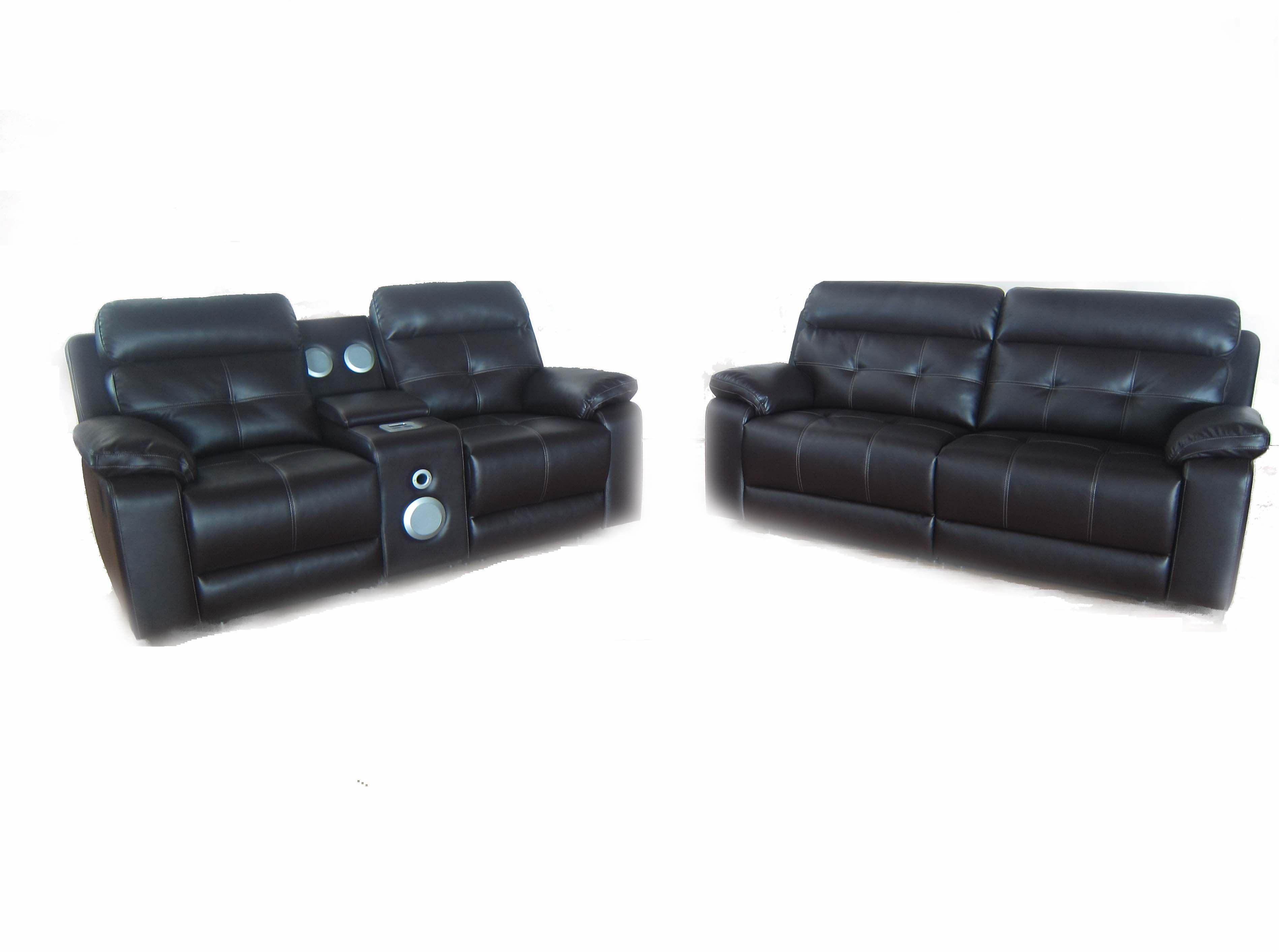 ISofa Audio Leather Sofa Suite (iPod, IPad, IPhone Docking Station), Gordons