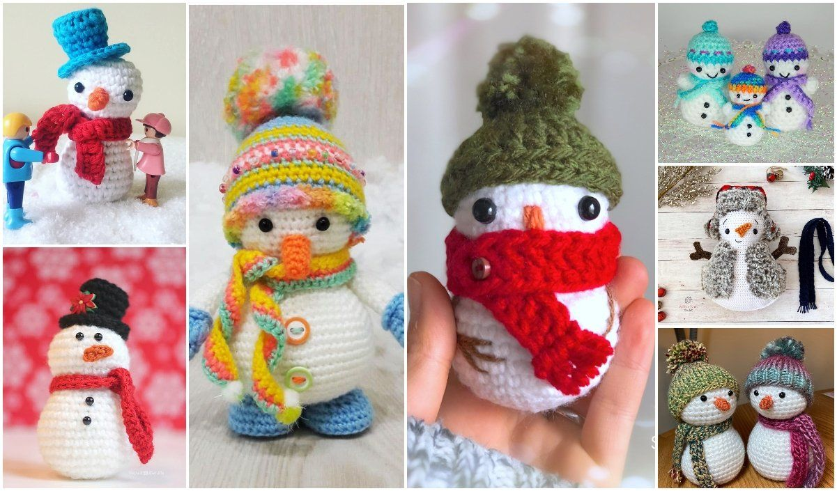 Little Snowman Free Crochet Patterns In 2020 Crochet Patterns Free Crochet Pattern Crochet