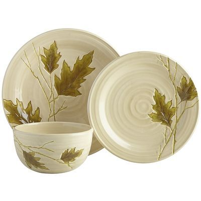 Oak Leaf Dinnerware $6.98 - $7.98 (clearance)  sc 1 st  Pinterest & Oak Leaf Dinnerware $6.98 - $7.98 (clearance) | homeinteriors ...