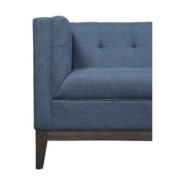 Gavin Blue Linen Sofa ($999) ❤ liked on Polyvore featuring home, furniture, sofas, linen couch, linen sofas, hand made furniture, handmade furniture and blue sofa