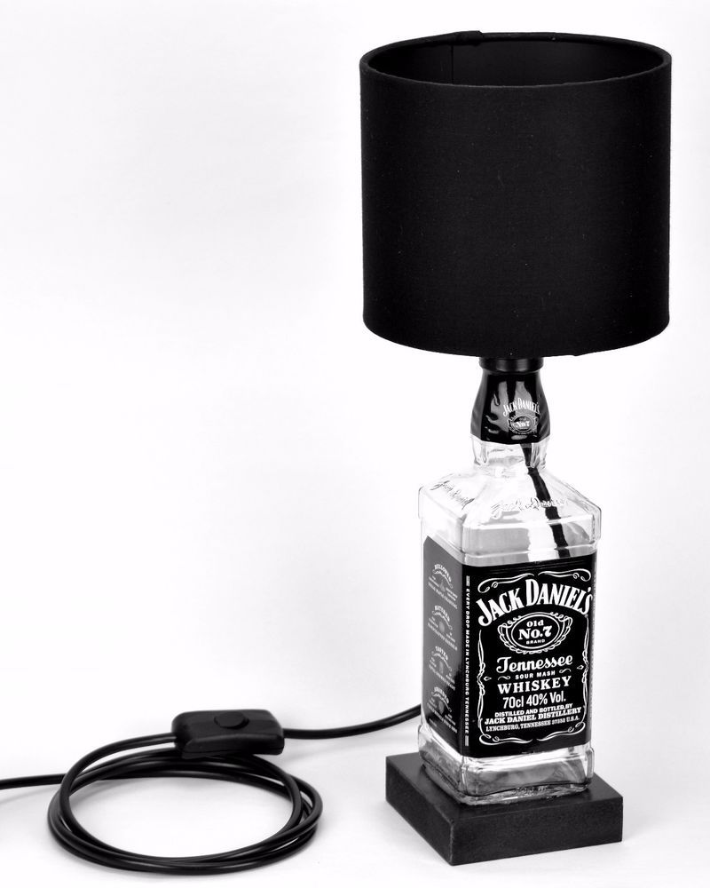 Bottle lamp jd jack daniels table desk lamp with black lamp shade aloadofball Images
