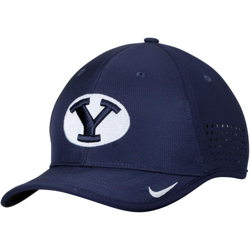 BYU Cougars Nike Coaches Sideline Vapor Performance Adjustable Hat - Navy
