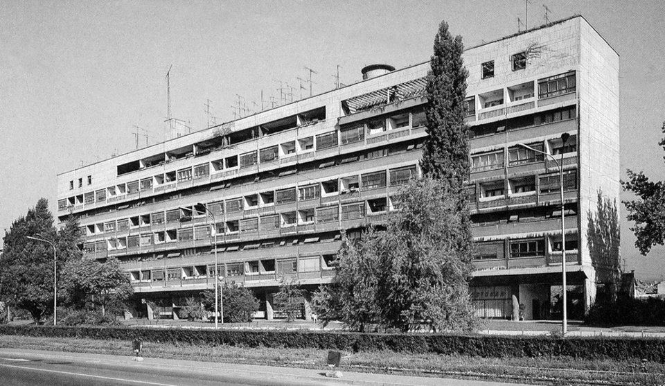 Wohnhaus Ulica Grada Vukovara 35 Zagreb 1953 Architekt Drago Galic Building Shades Multi Story Building