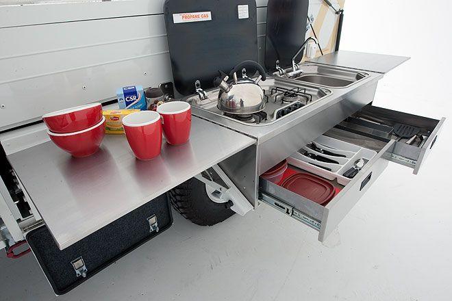 Slide out bed for camper google search motorhome for Kitchen design 4x4
