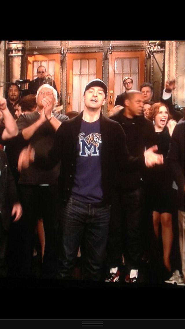 Justin reppin' Memphis Tigers!