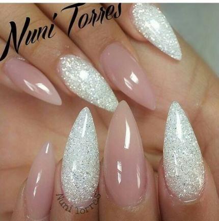 new nails neutral stiletto 37 ideas nails  cute nails