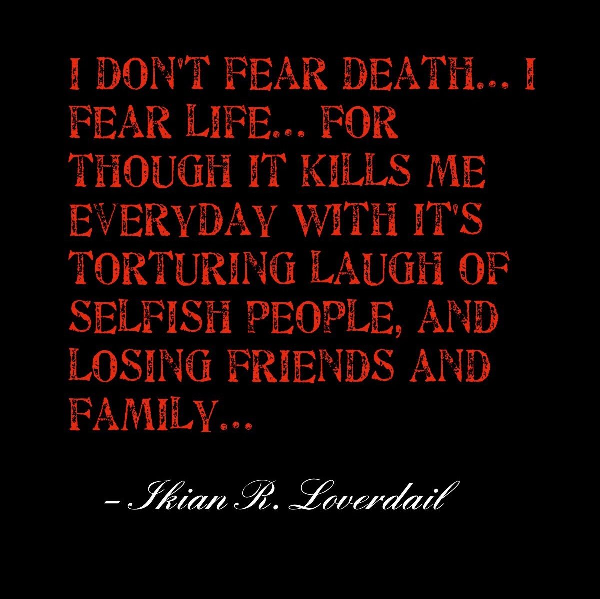 Why do people fear death 96