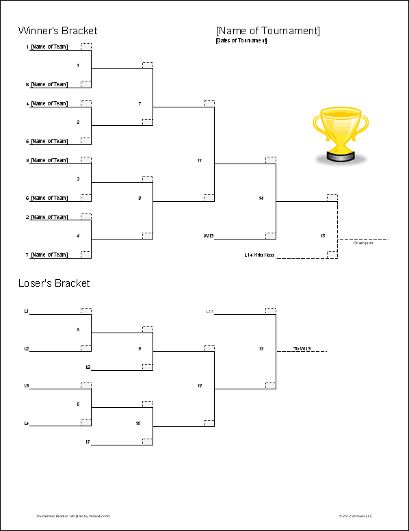 Download The Double Elimination Bracket Template From VertexCom
