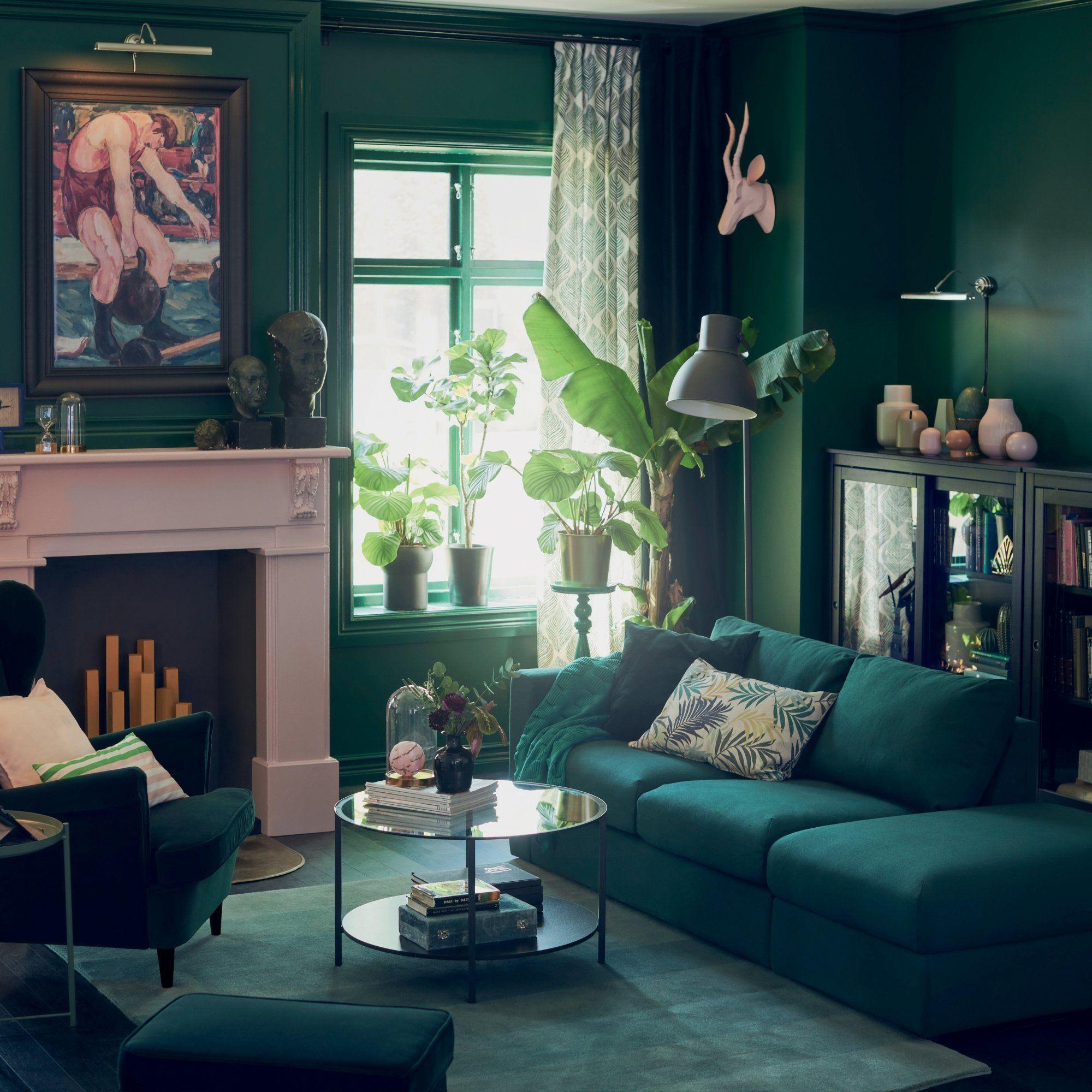 Un salon total look green Green power