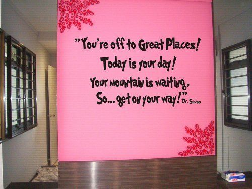 Dr seuss You're off to great places... Wall art vinyl letters decals love kids bedroom by Epic Designs, http://www.amazon.com/dp/B004PRWRNM/ref=cm_sw_r_pi_dp_phdEqb0DD63Q7