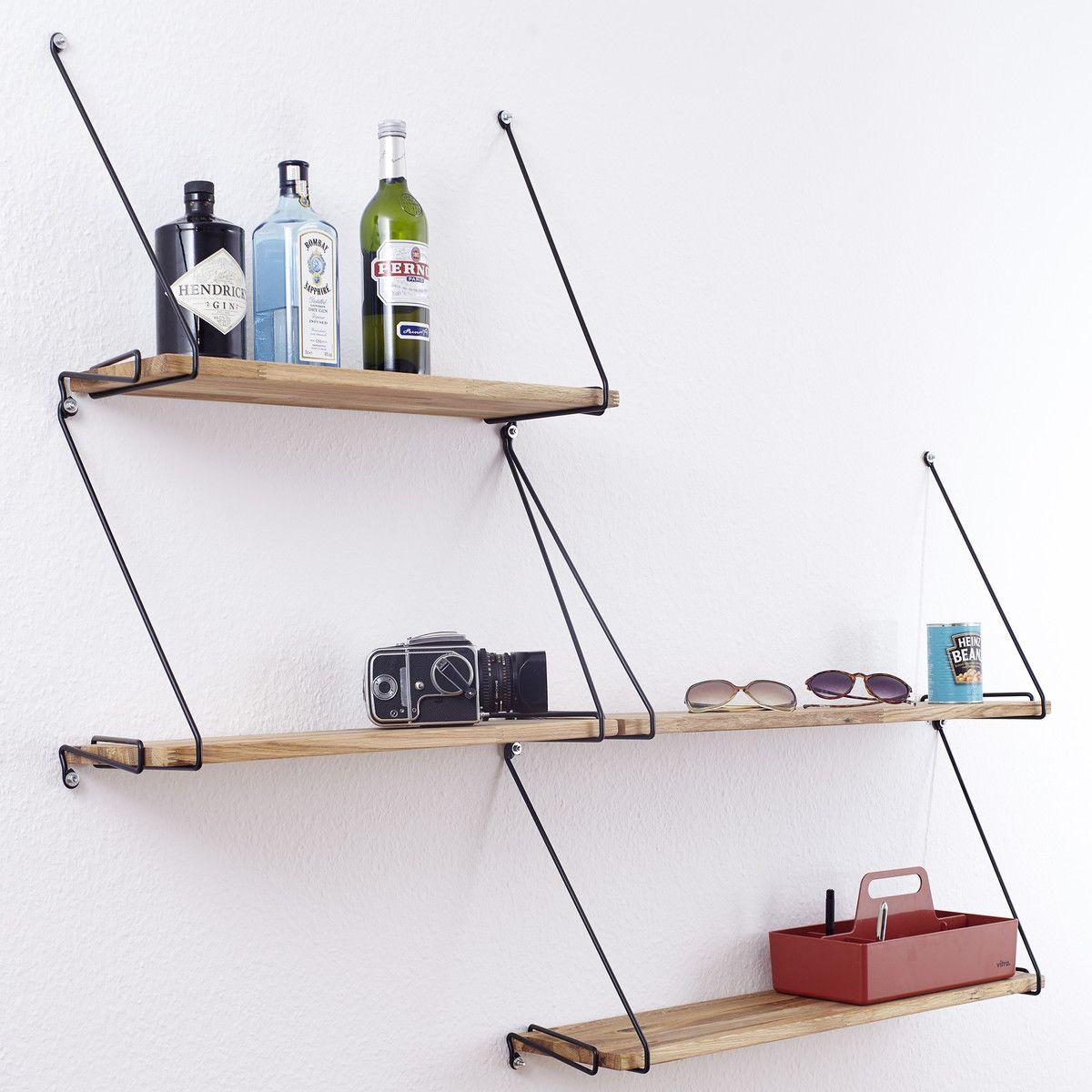 dhochzwei - Regalbrett, eiche 60 cm | Stahldraht, Regal und Palettenbett