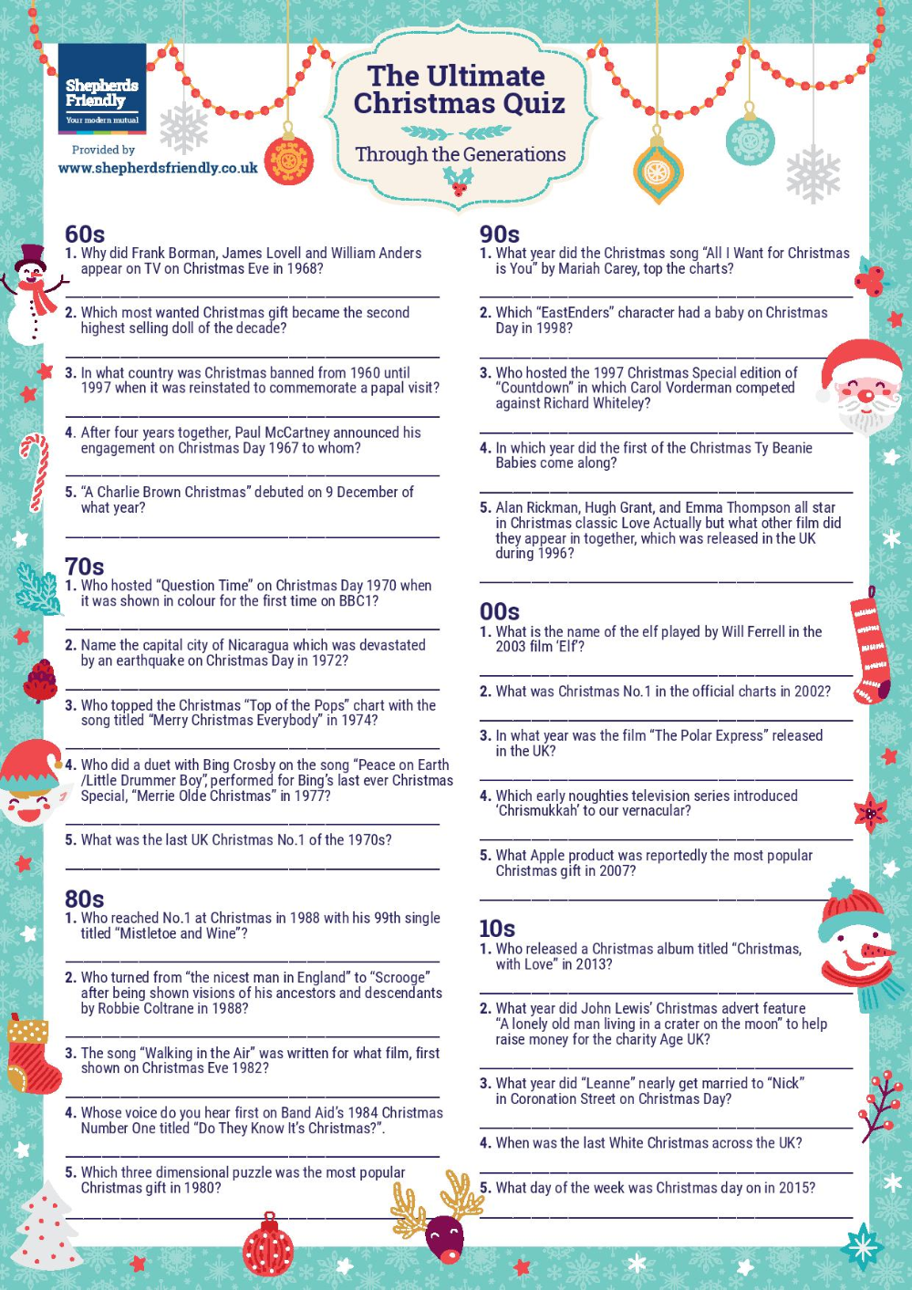 christmas picture quiz printable Google Search