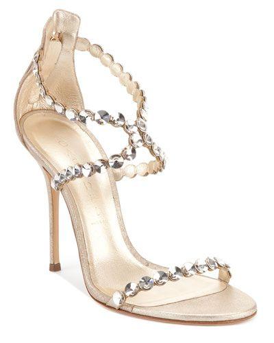 Casadei Swarovski® Crystal-Covered Strappy Sandal  a452f47d6ee