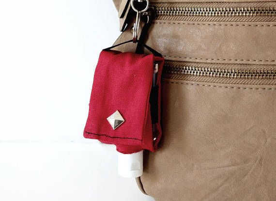 Red Hand Sanitizer Holder Sanitizer Pouch Clip Small Gifts For