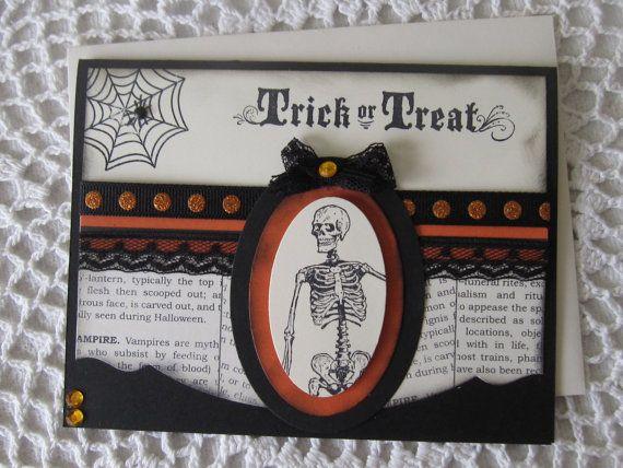 Handmade Greeting Card: Halloween Trick Or Treat by ConroysCorner