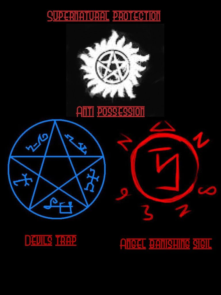 Supernatural Protection Symbol Fanart Supernatural Pinterest