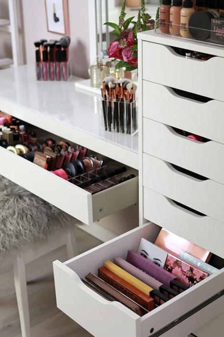 TidyUps | DIVIDERS FOR PALETTES | Make-up Organizer aus Acryl für IKEA ALEX, MALM und andere Schminktische