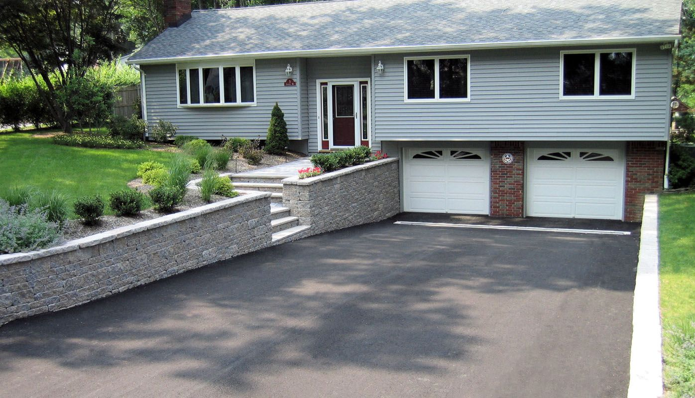 driveway retaining wall - google