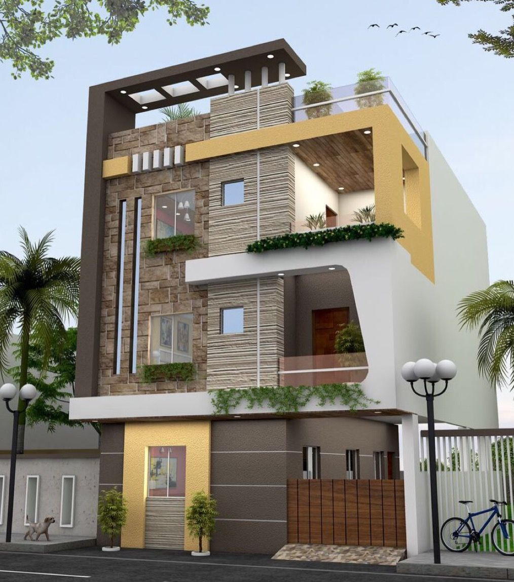 Pin by abhijay janu on homes pinterest house elevation for Front view of duplex house in india