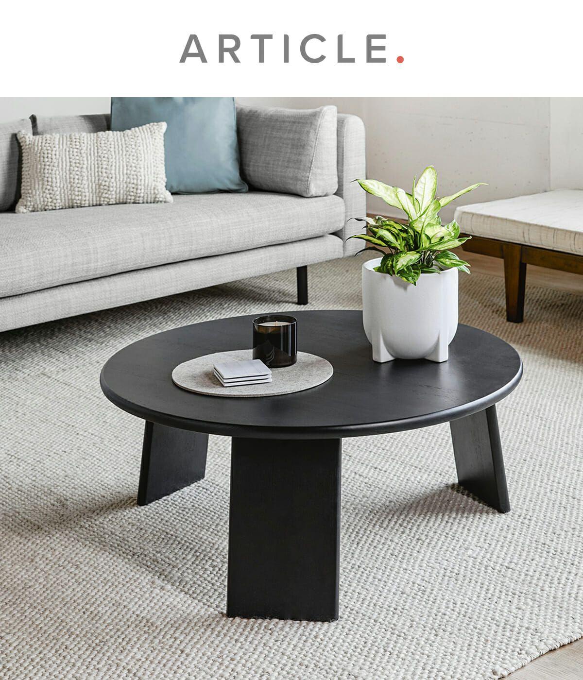 Uddo Black Ash Coffee Table Coffee Table Mid Century Modern Coffee Table Living Room Decor Furniture [ 1400 x 1200 Pixel ]