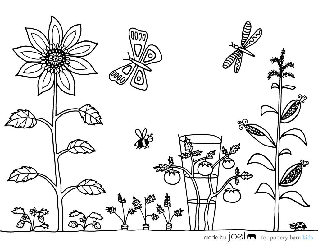 Vegetable Garden Coloring Sheet Made by Joel Free