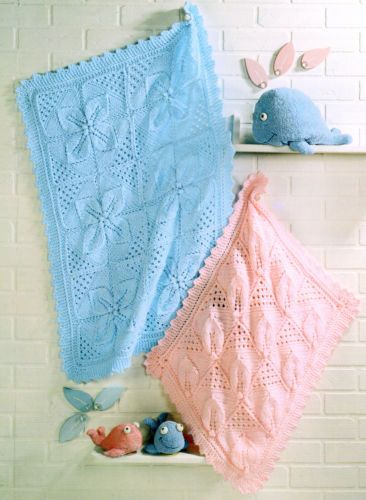d75c82607085 Chunky-Wool-Pram-amp-Cot-Baby-Blankets-Leaf-Panel-Knitting-Pattern ...