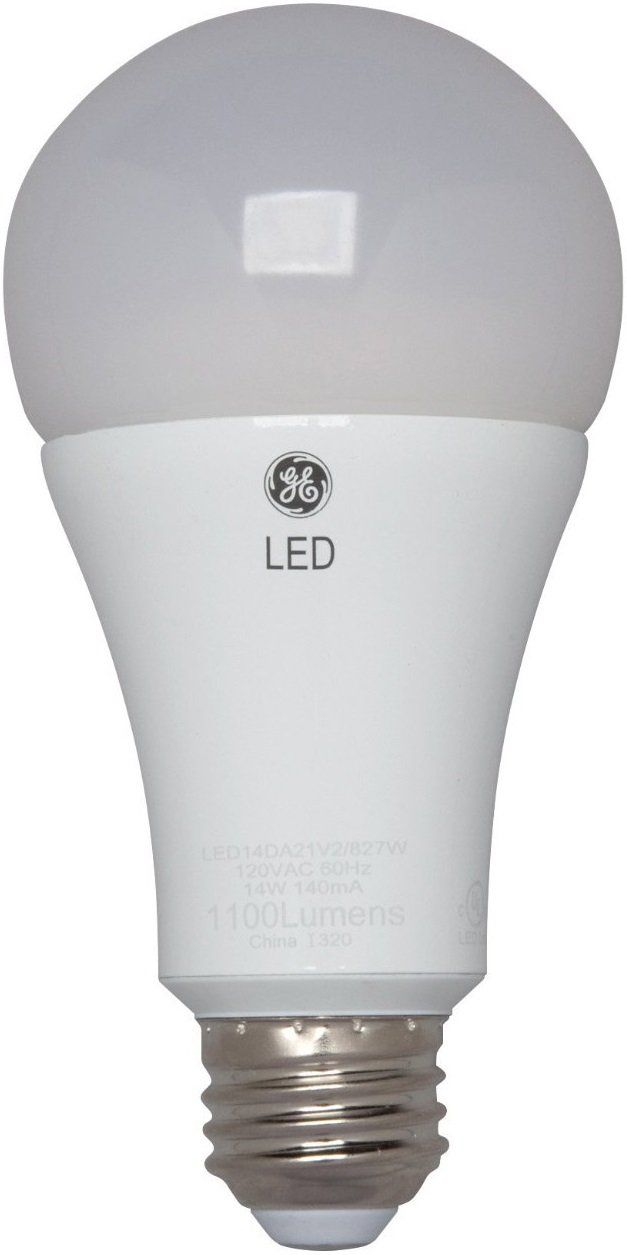 GE 92118 3 Way LED Light Bulb, 16 Watts, 120 Volt