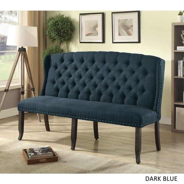 Furniture of America Tays Transitional Linen Fabric 3 ...